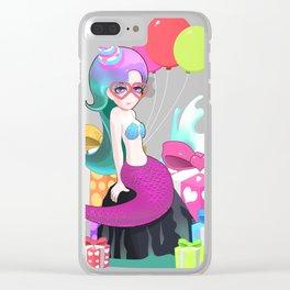Colorful Cute Mermaid Birthday T Shirt Clear iPhone Case