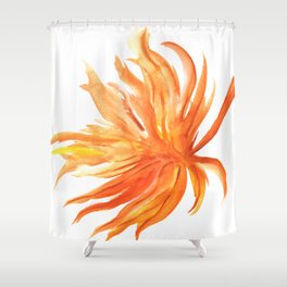 Hoja de Palmera Shower Curtain