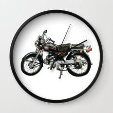 Motorcycle (Red & Black) Wall Clock