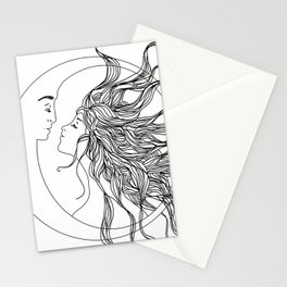 Sun and Moon II Stationery Cards