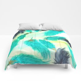 Wicked Green Skies Comforters