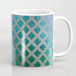 Trendy Blues, Aquas, and Green Mermaid Pattern Coffee Mug