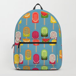 Fruit popsicles - blue version Backpack
