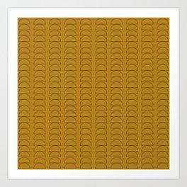 Maude Outline Pattern XV Art Print