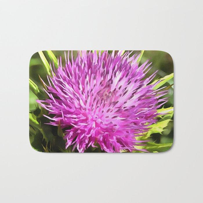 Purple Thistle Wildflower Bath Mat