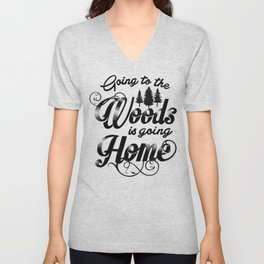 GOING TO THE WOODS Unisex V-Neck