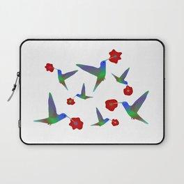 Hummingbird Pattern With Flowers Laptop Sleeve