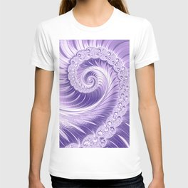 Ultra Violet Luxe Spiral Pattern | Trendy Color of the Year 2018 T-shirt
