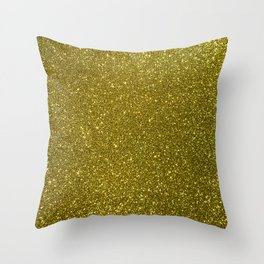Classic Bright Sparkly Gold Glitter Throw Pillow