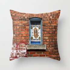 Our Lady of the Window  Throw Pillow