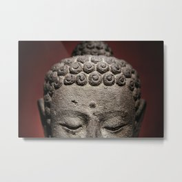 Red Meditation Metal Print