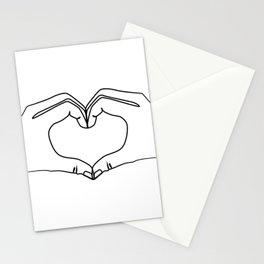 Hands making heart shape Stationery Cards