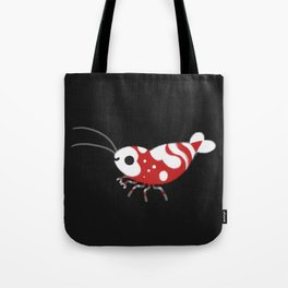 Red and blue shrimp Tote Bag