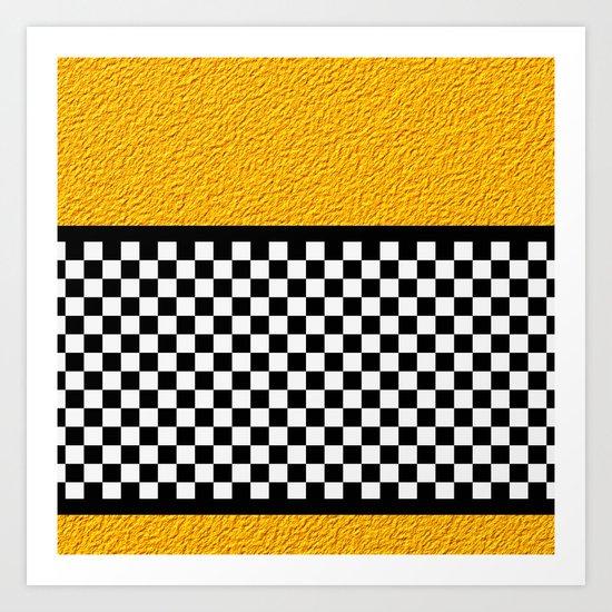 Checkered/Textured Gold Art Print