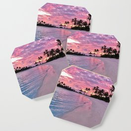 SUNSET AND PALM TREES Coaster