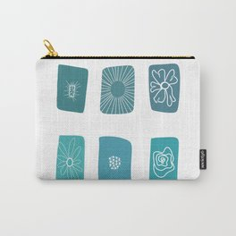 A Bit of Whimsy Flower Design Carry-All Pouch