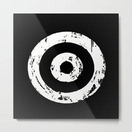 Black & White Target Metal Print