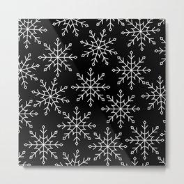 Give Me a Black & White Christmas - 3 Metal Print