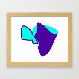 The Purple Turquoise  Mood Effect Framed Art Print