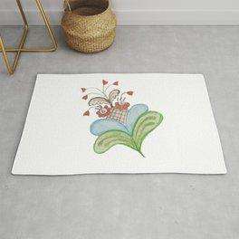 Kurbitsflower, Swedish folk art Rug