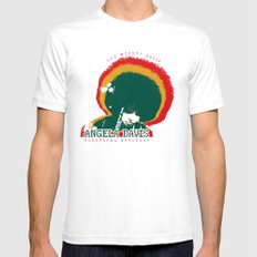 Angela Davis SMALL White Mens Fitted Tee