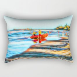 Surf Rescue on beautiful beach Rectangular Pillow
