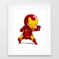 ironman Framed Art Prints featuring IRONMAN by MauroPeroni