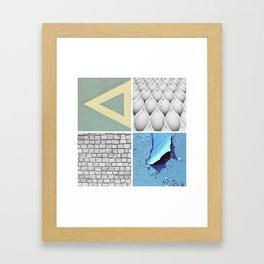 Graphic Quadrant 3 Framed Art Print