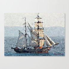 Elegant sailboats Canvas Print