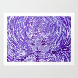 Blue Eolo Art Print