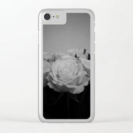 Black and White Roses (5) Clear iPhone Case