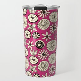 summer flowers pink Travel Mug