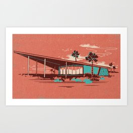 PALM SPRINGS VISITOR CENTRE Art Print