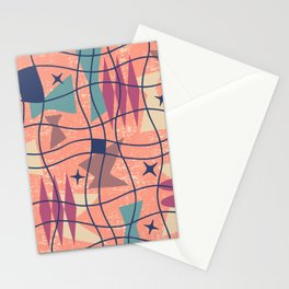 Mid Century Modern Abstract Pattern 777 Stationery Cards