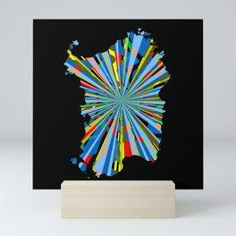 Sardinia, burst map Mini Art Print