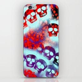 Mint Tri-Skull iPhone Skin