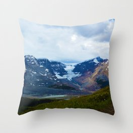 Athabasca & Snowdome Glaciers in Jasper National Park, Canada Throw Pillow
