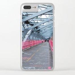 Across the Williamsburg Bridge Clear iPhone Case