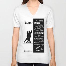 dance house Unisex V-Neck