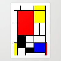 mondrian Art Prints featuring Mondrian by Fine2art