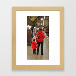 Lad And Dad Framed Art Print