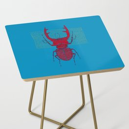 Stitches: Red stag Side Table