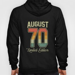 Vintage 50th Birthday August 1970 Sports Gift Hoody