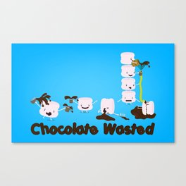 Chocolate Wasted (blue) Canvas Print