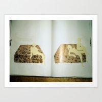 old sketchbook photo Art Print