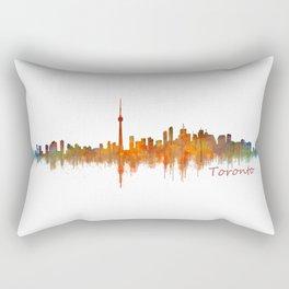 Toronto Canada City Skyline Hq v02 Rectangular Pillow