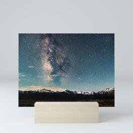 Milky Way Over Sawtooth Range Mini Art Print