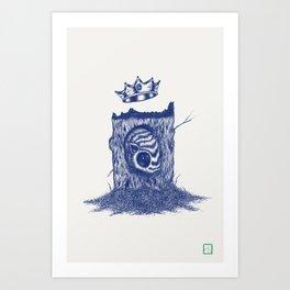 King of the Little Forrest Art Print