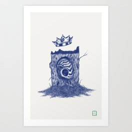 King of the Little Forrest Art Print
