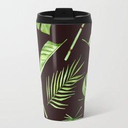 watercolor pattern tropical leaves Travel Mug